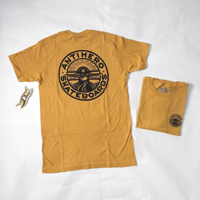 Anti Hero Stay Steady T-Shirt Mustard