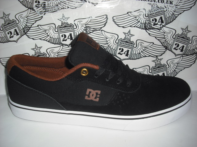 DC Switch S Shoes Black/White/Brown