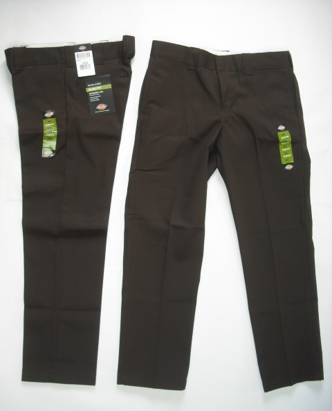 Dickies 873 Slim Straight Work Pants Brown